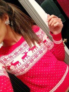 Cute tribal mix print christmas sweaters