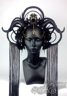 MADE TO ORDER Dark Queen Faux Feather Headdress