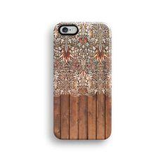 Floral wood iPhone 6 case, iPhone 6 plus case S573