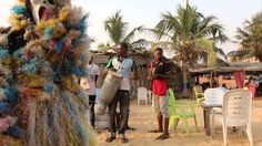 Playing and dancing at the Beach in Benin