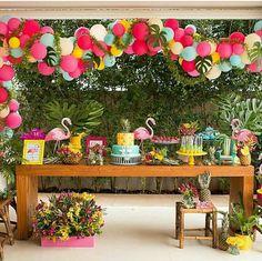 Flamingo Party, Flamingo Birthday, Hawaiian Birthday, Luau Birthday, Aloha Party, Luau Party, Summer Party Decorations, Birthday Party Decorations, Havanna Party