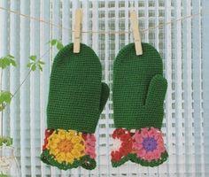 Maniques - Fleurs et Applications au Crochet free pattern