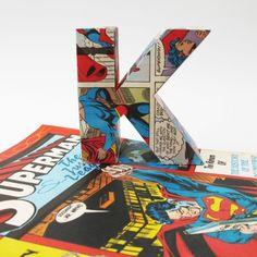 Vintage comic book letter K