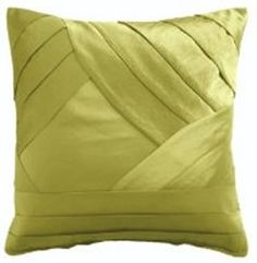 Pleated green cushion. £20.00  http://www.worldstores.co.uk/p/This_Morning_Layered_Pleats_Square_Cushion_in_Green.htm