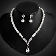 fashion sapphire bridal wedding african jewelry sets statement necklaces Simulated Pearl wholesale J2075