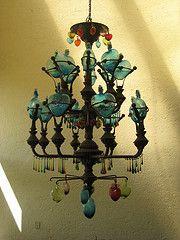 Hacienda light vintage mexican wrought iron chandelier saucer chandelier in mexican resort aloadofball Images
