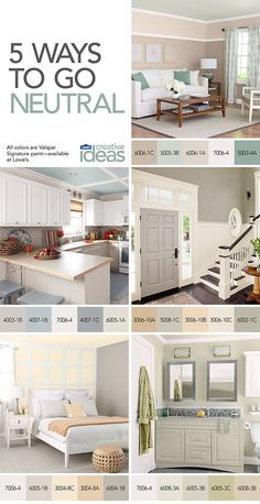 Take inspiration from the natural world with trend-defying calm neutrals. See more ways to use neutral colors in Color for Every Room -- a free Lowe's Creative Ideas online magazine! Lowes Creative, Creative Ideas, Warm Colors, Neutral Colors, Rich Colors, Lowes Paint Colors, Living Room Remodel, Reno, Guest Bedrooms