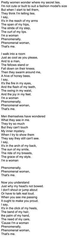 Woman Work - Poem by Maya Angelou