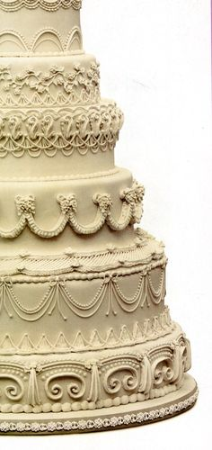 Wedding Cake Decoration Picture only love the style. Reminds me of old Tuscan buildings, maybe not for this cake though
