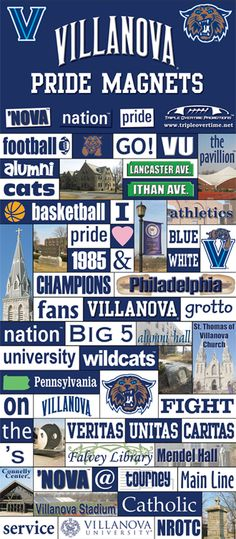 villanova pride magnets