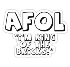 """AFOL 'I'm King of the Bricks' by Customize My Minifig"" Stickers by ChilleeW 