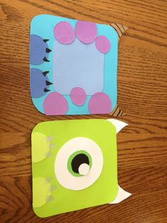 Monsters inc. door decs! Totally love the Mike door dec