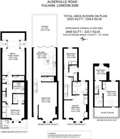 Check out this property for sale on Rightmove! House Layout Plans, House Layouts, Craftsman Floor Plans, House Floor Plans, Loft Conversion Layout, House Extension Plans, Boat Garage, Parsons Green, Sims House Design