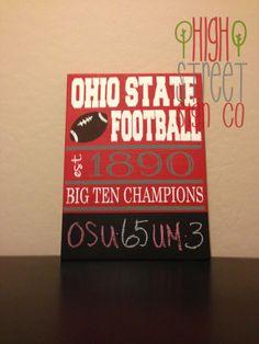 Ohio State Football Chalkboard Sign Football Season Is Here Go Buckeyes