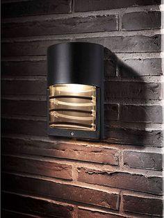 Svart utomhuslampa - Lampekonsulenten Momento wall vägglampa