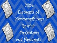 This Omega English product helps middle school students understand the concept of newsworthiness.  It contains a lively 11 page handout that can be printed or projected discussing the 9 elements of newsworthiness.  In addition, it contains 1 graphic organizer in which students analyze news articles in order to determine whether or not it is newsworthy using the using the elements presented.