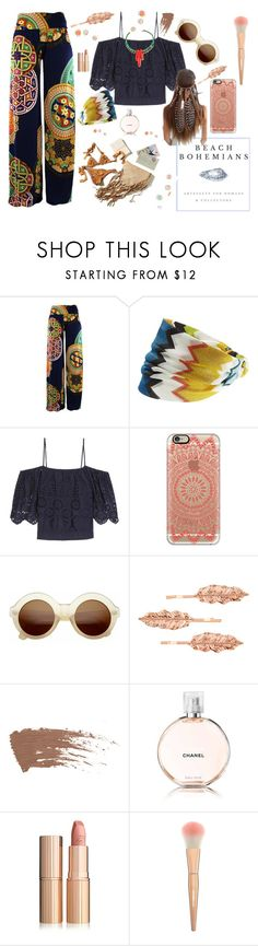 """BeachBohemians"" by jelena-topic5 ❤ liked on Polyvore featuring Missoni Mare, Ganni, Wildfox, Casetify, ZeroUV, Accessorize, Chanel and beachbohemians"