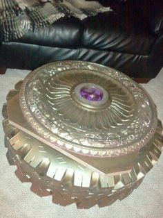 Upcycled tire coffee table found on https://www.facebook.com/LugxuriousDesigns