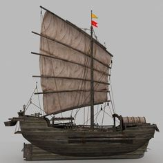 chinese old ship 03 model max obj fbx 4 Model Sailing Ships, Model Ships, Chinese Boat, Junk Ship, Medieval, Asian Architecture, Boat Stuff, Stained Glass Designs, Wooden Boats