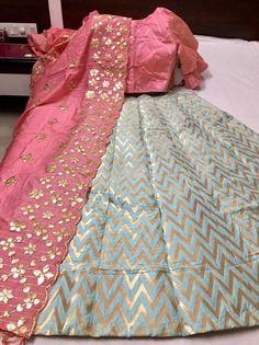 Lehenga Designs, Kurta Designs, Saree Blouse Designs, Half Saree Designs, Choli Designs, Banarasi Lehenga, Indian Lehenga, Silk Dupatta, Brocade Lehnga