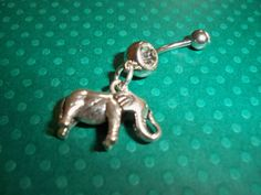 elephant  belly button ring by sindys on Etsy, $12.00