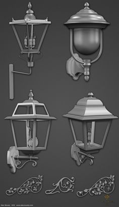 ArtStation - Lamps for The Order 1886, Alec Moody
