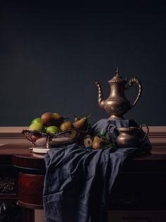 Still life with fruit from old Dutch masters photo-shoot