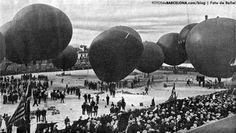 Barcelona 1907. Concurso de globos aeroestáticos en Pueblo Nuevo