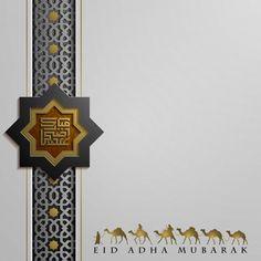 Eid adha mubarak greeting card design Pr... | Premium Vector #Freepik #vector #gold