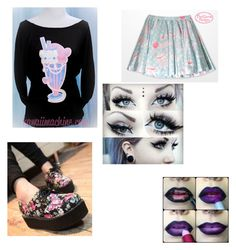 """Pastel goth look #5"" by kyleigh-rodgers on Polyvore"