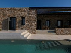 Incredible Stone Facade Design to Spike up Design of Buildings Villa Design, Design Hotel, Facade Design, Exterior Design, House Design, Spa Design, Design Interiors, Design Balcon, Contemporary Architecture