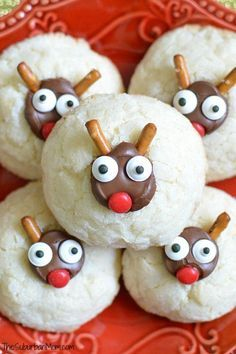 These Christmas Reindeer Cookies are bound to be the cutest cookies at your cookie exchange plus the fluffy cream cheese cookie is delicious.