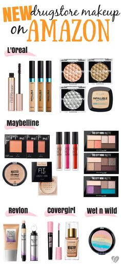 New Drugstore Makeup on Amazon - If you are looking to try out some new drugstore makeup, no need to hit up 3 drugstores just to find your right foundation shade, hit up Amazon and let the makeup come to you!
