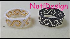 Beautiful and elegant rings with filigree motif, do not miss the tutorial . Tutorial Anillo, Earring Tutorial, Beading Tutorials, Beading Patterns, Beaded Rings, Beaded Jewelry, Bead Loom Bracelets, Bead Weaving, Craft Jewelry