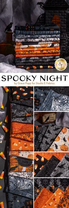 Shop the Spooky Night collection by Grace Popp for Studio E Fabrics. 100% Cotton. Shabby Fabrics, Sewing Crafts, Quilting, Studio, Night, Shop, Cotton, Collection, Studios