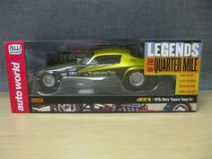 Legends of the Quarter Mile 1:18 JEG's 1970's Chevy Camaro Funny Car AW1160 A/FC #AutoWorld #Chevrolet