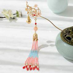 Chinese Hairpin, Bride Hair Accessories, Hair Jewelry, Jewellery, Hanfu, Bride Hairstyles, Hair Pins, Colours, Drop Earrings