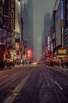 Noche Nevado, Foto de la ciudad de Nueva York a Través de dani
