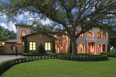 Honored as best custom home design by the GHBA, this exceptional new construction blends Spanish and Mediterranean influences. pretty