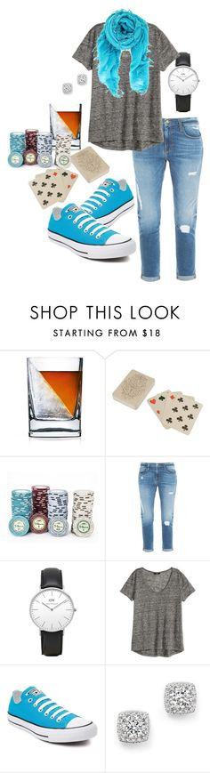 """""""Poker Night"""" by anaisninsiana ❤ liked on Polyvore featuring Dot & Bo, Frame Denim, Daniel Wellington, Converse, Bloomingdale's and Chan Luu"""
