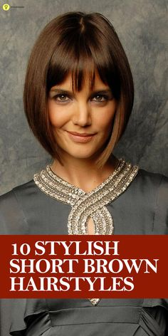 We are excited to see our grounding brown enter this season's mainstream world of hair colors! Here are 10 stylish short brown #hairstyles for ...
