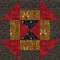 Churn Dash Quilt Block Pattern Variation