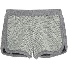 T by Alexander Wang Rainbow cotton-terry shorts ($64) ❤ liked on Polyvore featuring shorts, bottoms, pants, short, grey, grey shorts, pull on shorts, short shorts, elastic waistband shorts and cotton shorts