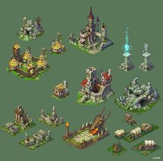 Buildings for game. by Jonik9i.deviantart.com on @deviantART