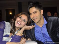 A truly iconic and candid picture of Varun Dhawan and Kajol, that will be cherished for generations to come. Their cute smiles show what Bollywood is all about - warm relationships that lifelong memories. via Voompla.com