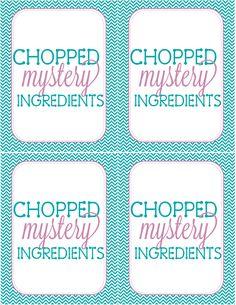 Recipes from Stephanie: Chopped YW Activity