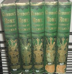 Antique 1879 Gibbon's History of Rome 5 Vol by Edward Gibbon Milman NYC HC Books | eBay
