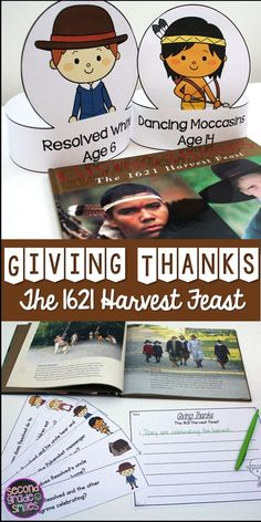 This book study resource for Giving Thanks: The 1621 Harvest Feast, written by Kate Waters, is filled with engaging reading comprehension activities, compare and contrast activities, and writing prompts. Great activities for comparing Thanksgiving long ago and today in 1st, 2nd, or 3rd grade!