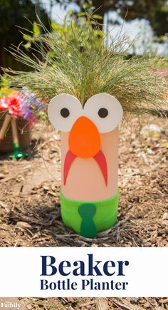 Let Beaker inspire your kids to learn. This DIY Beaker Bottle Planter uses a two-liter bottle, paint, and a few household supplies to teach little ones about recycling, nature, and giving. Join Disney in a movement to create a brighter tomorrow and make your community greener with Beaker from The Muppets. Apply for a $500 Disney #SummerOfService grant at Disney.com/BeInspired through September 30th.