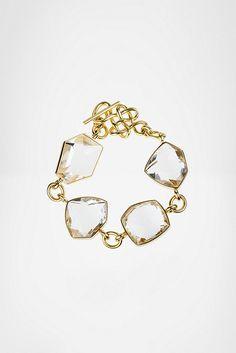 Diane von Furstenberg H.Stern Rock Crystal Bracelet Champagne Taste, Clear  Quartz, e6a56508b92b